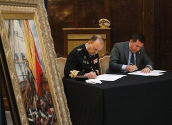 Firma del acuerdo de donación