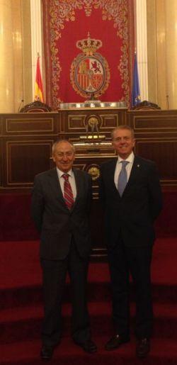 Álvarez y Altava en la tribuna del Senado