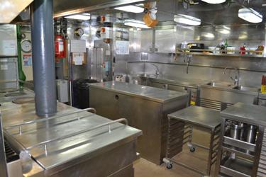 Cocina de la fragata Almirante Juan de Borbón