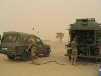 Repostaje en Afganistán