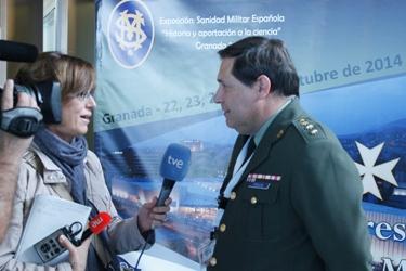 El coronel Peralba entrevistado por los medios