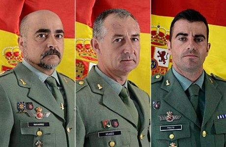 brigadas Navarro y Velsaco y sargento Prieto