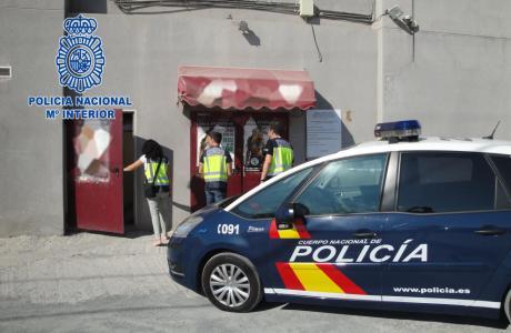 Policía Nacional en operación anti-fraude. Imagen de archivo