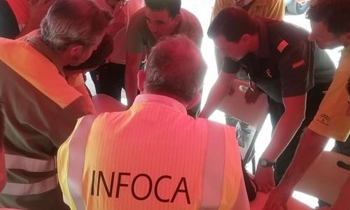 Infoca, incendio Castillo de las Guardas