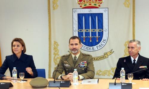 Imagen Oficial de la Casa Real, el Rey durante las conferencias