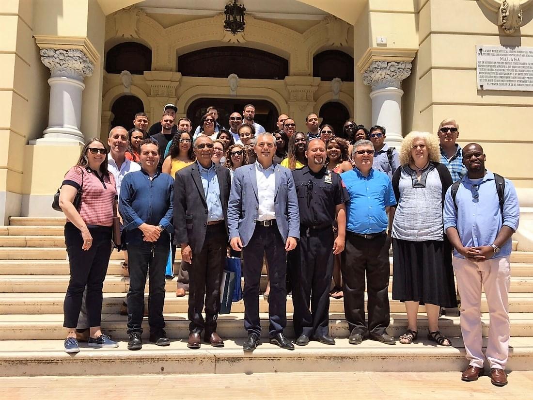 El equipo multidisciplinar del Ayuntamiento de Málaga. Foto: Ayuntamiento de Málaga.