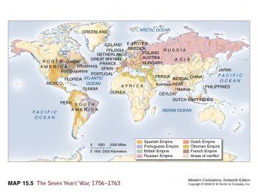 Guerra de los Siete Años. Fuente: lenoxhistory.org