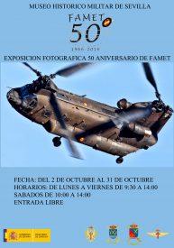 Cartel de la exposición de las Unidades de Helicópteros del Ejército de Tierra FAMET.