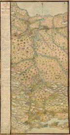 Istmo de Tehuantepec, desde Oaxaca hasta Veracruz (1774). Agustín Crame.