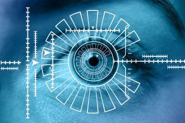 Sistemas de seguridad por reconocimiento del iris y de biometría.