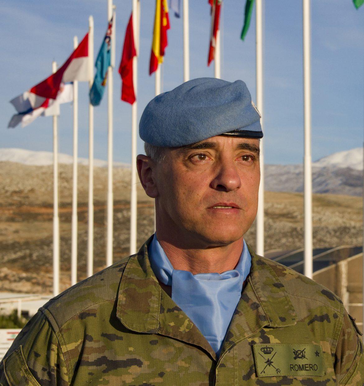 El general de Brigada Francisco Romero Marí, jefe de UNIFIL.