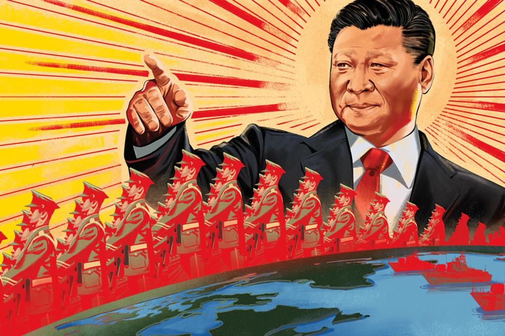 NWO INFORMATIVOS - Página 3 Xi-Jinping-China-defense-propaganda-Maoist-Jonathan-Bartlett-illustration-article